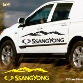 Ssangyong Dağ Off Road Oto Sticker 1 Adet
