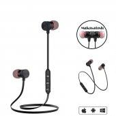 Mıknatıslı Mikrofonlu Kablosuz Bluetooth Spor Kulaklık