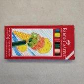 Faber Castell Kuru Boya Karton Kutu Jumbo Yarım Boy 6 Renk 12.1006