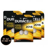 Duracell Lithium Dl2016 10 Adet