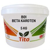 Tito B01 Toz Suda Çözünür (1) Beta Karoten 5 Kg