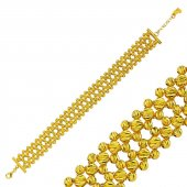 Altın Bileklik Dorica Tasarım Sarı Renkli Blk 0568