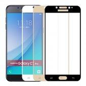 Samsung Galaxy C7 C7 Pro Kırılmaz Tam Ekran 3d Cam Ekran Koruyucu