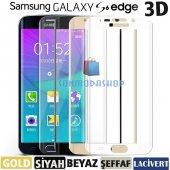 Galaxy S6 Edge Kırılmaz S6 Edge Plus Tam Ekran Cam Oval Kavisli