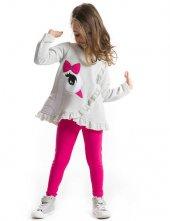Denokids Beyaz Kuğu Kız Çocuk Tayt Tunik Takım