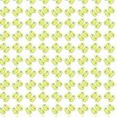 Beyaz Zemin Üzerine Sarı Patik Desenli Keçe Plaka (Dk P38)