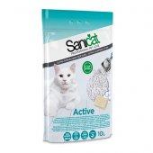 Sanicat Active Topaklanan Kedi Kumu 10 Lt Beyaz Sabun Kokulu