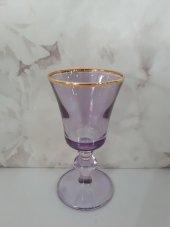 Kahve Yanı Su Bardağı 6 Adet Lüsteri Yaldızlı