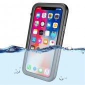 Apple İphone X Su Geçirmez Siyah Kılıf Arka Koruyucu Kapak