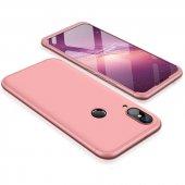 Huawei P20 Lite 360 Rose Gold Full Koruma Kılıf Arka Koruyucu Kap