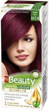 Beauty Doğal Bitkisel Saç Boyası M14 Vişne Kızılı