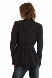 Siyah Beli Bağlamalı Ceket 19k0155061