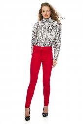 Kırmızı Dar Kesim Basic Pantolon 19k0144102