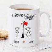 ı Love You Kişiye Özel Kupa Pi164
