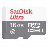 Sandisk Ultra 16 Gb 80mb Uhs I Hafıza Kartı Sdsqun...