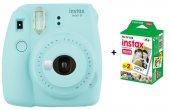 Fujifilm Instax Mini 9 Fotoğraf Makinesi +mini 10x2 20 Sheets Fotoğraf Filmi Açık Mavi