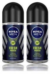 Nivea Deo Roll On Erkek Deodorant Fresh Power 50ml 2 Adet