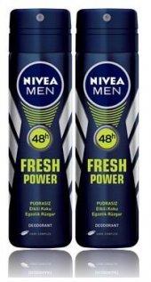 Nivea Sprey Erkek Fresh Power Egzotik 2 Adet