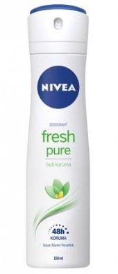 Nivea Deo Sprey Kadın Deodorant Fresh Pure 150ml (Pure Natural)