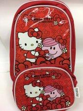 Hello Kitty Okul Ve Beslenme Çantası