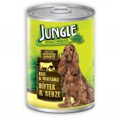 Jungle Biftekli Sebzeli Köpek Konservesi 415 Gr