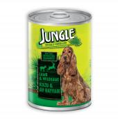 Jungle Kuzu Etli Av Hayvanlı Köpek Konservesi 415 Gr