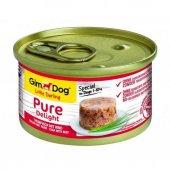 Gimdog Pure Delight Ton Balıklı Biftekli Köpek Konservesi 85gr