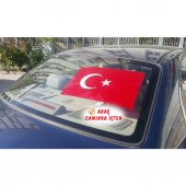 Yapışkansız Kendinden Yapışan Türk Bayrağı Türkiye'de İlk
