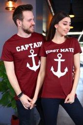 Sevgili Kombini Captain First Mate Bordo Tişört Kısa Kollu Tshirt