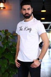 The King Tişört Beyaz T Shirt Kısa Kol Tshirt