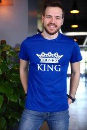 Saks Mavi Kıng Tshirt Kısa Kollu Tişört