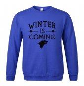 Winter İs Coming Mavi Sweatshirt Stark Wınter Is Comıng