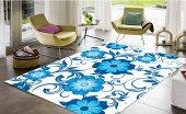 Sh 80709 Consepthome Elegance Mavi Çiçekli Halı