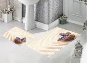 Bh 1725 Kumsaldaki Kelebek 3d Banyo Paspas Takımı