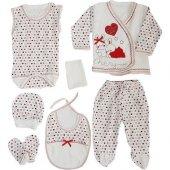 Chery Laci Kırmızı 7 Li Bebek Hastane Çıkış Seti