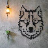 Dekoratif Ahşap Tablo Kurt (Wolf)