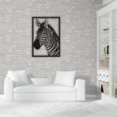 Dekoratif Ahşap Tablo Zebra