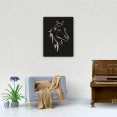 Dekoratif Ahşap Tablo Horse Portre