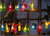 Doğum Günü İçin Happy Birthday İp Led Işık Pilli