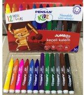 Pensan Kidz Yıkanabilir Jumbo Keçeli Kalem 12 Adet