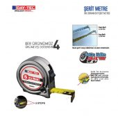 Bay Tec 5m X 19mm Durdurma Mekanizmalı Çelik Şerit Metre No 63