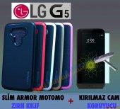 Lg G5 Kılıf Motomo Lüx Infıny Zırh + Cam
