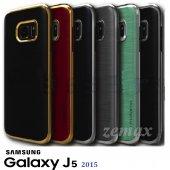 Samsung Galaxy J5 Kılıf Motomo Lüx Infıny Zırh +kırılmaz Cam