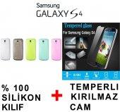Samsung Galaxy S4 Kılıf + Cam Ekran Koruyucu