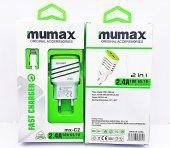 Mumax İphone 5 6 7 7 Plus Uyumlu Şarj Aleti Şarj Cihazı 2.4a 2 U
