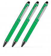 Kişiye Özel Yeşil Metal Tükenmez Kalem (100 Adet) Model 506