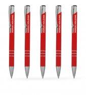 Kişiye Özel Kırmızı Metal Tükenmez Kalem (100 Adet) Model 133