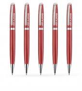 Kişiye Özel Kırmızı Metal Tükenmez Kalem (100 Adet) Model 366