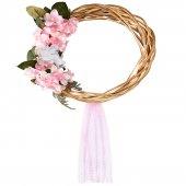 çelenk Kapı Süsü Ortanca Çiçek Süslemeli