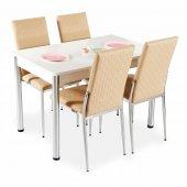 Siyah Masa Sandalye Takımı Mutfak Yemek Masası